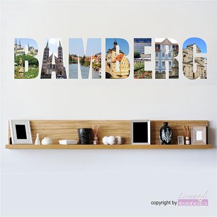 wandtattoo bamberg st dteaufkleber wahrzeichen stadt city wandaufkleber ebay. Black Bedroom Furniture Sets. Home Design Ideas