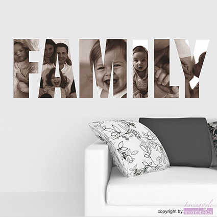 wandtattoo family bilder mal anders mit eigenen fotos wandaufkleber ebay. Black Bedroom Furniture Sets. Home Design Ideas