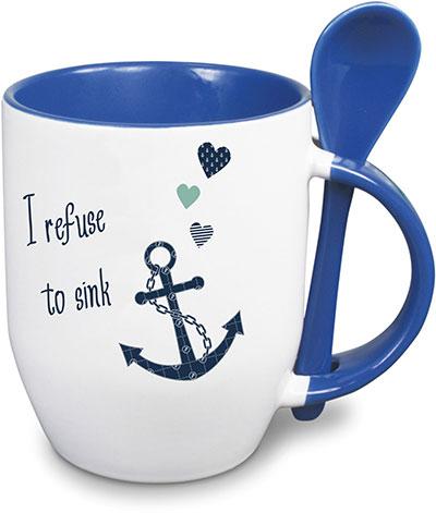 l ffeltasse kaffeebecher maritim marine anker kompass versch motive mit namen ebay. Black Bedroom Furniture Sets. Home Design Ideas