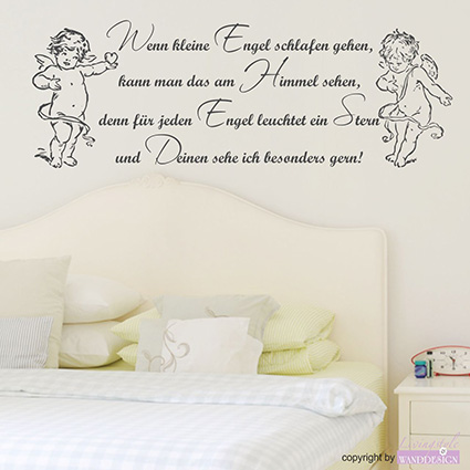 wandtattoo engel spruch angel herz wandsticker. Black Bedroom Furniture Sets. Home Design Ideas