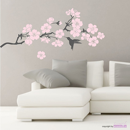 japanische kirschbl ten wandtattoo reuniecollegenoetsele. Black Bedroom Furniture Sets. Home Design Ideas